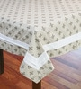 R Home Vintage Printed Beige Cotton Table Cover