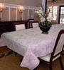 R Home White Cotton 6 Seater Table Cover