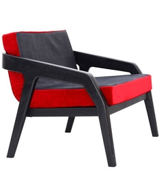Racerback Arm Chair In Red & Black Colour By Bent Chair