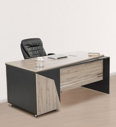 Delightful Radius Office Desk In Red Finish ...