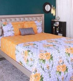 Raymond Home Orange 100% Cotton King Size Bedsheet - Set Of 3 - 1583130