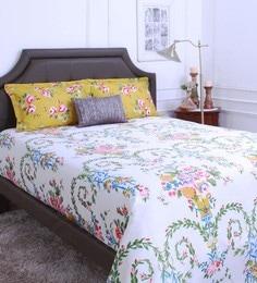 Raymond Home Yellow 100% Cotton King Size Bedsheet - Set Of 3 - 1583226