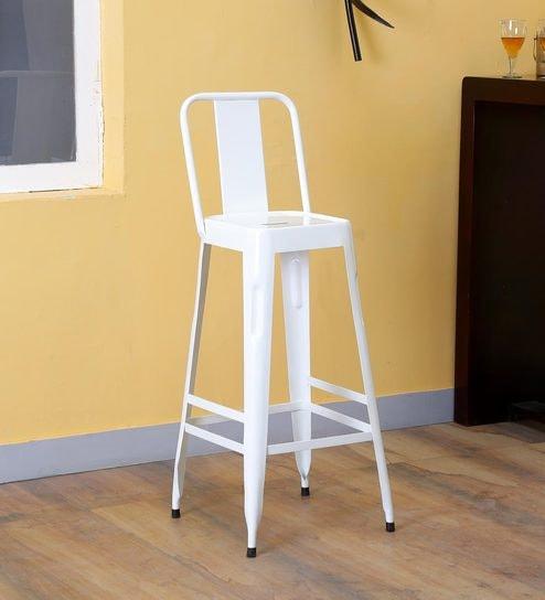 buy raglan bar stool in white color by bohemiana online full back