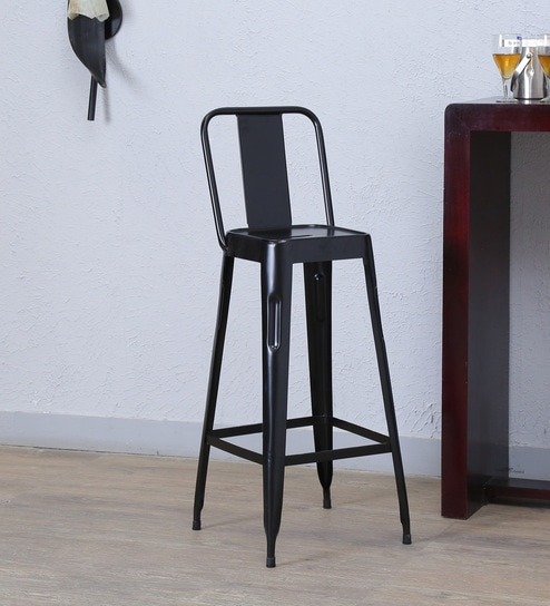 Buy Raglan Black Colour Chair By Bohemiana Online Full Back Bar