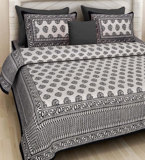 2bf9b4ae87b Buy Ethnic Motif 160TC Cotton Double Size Bed Sheet with 2 Pillow covers By Rajasthan  Decor Online - Ethnic Motif Double Bed Sheets - Double Bed Sheets ...