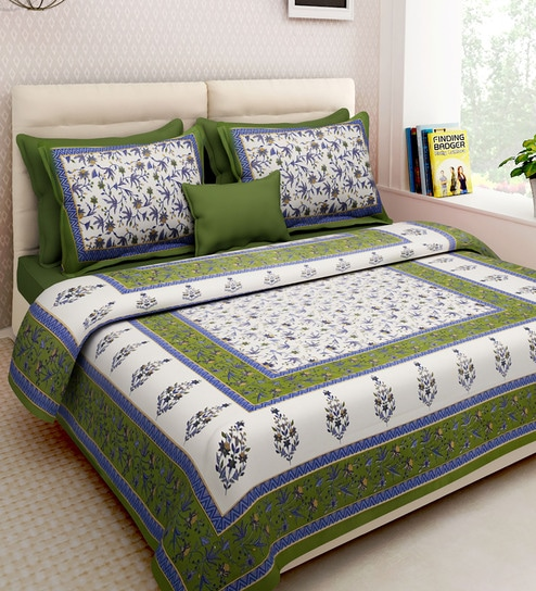 3bad142951 Buy Ethnic Motif 160TC Cotton Double Size Bed Sheet with 2 Pillow covers By  Rajasthan Decor Online - Ethnic Motif Double Bed Sheets - Double Bed Sheets  ...