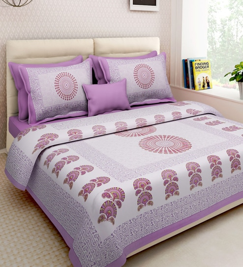 3f86c394b4f Ethnic Motif 160TC Cotton Double Size Bed Sheet with 2 Pillow covers By Rajasthan  Decor