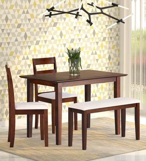 Ramen 4 Seater Dining Set With Bench