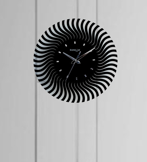 9d93052737 Buy Black Wood Wall Clock by Random Online - Eclectic Wall Clocks - Wall  Clocks - Decor - Pepperfry Product