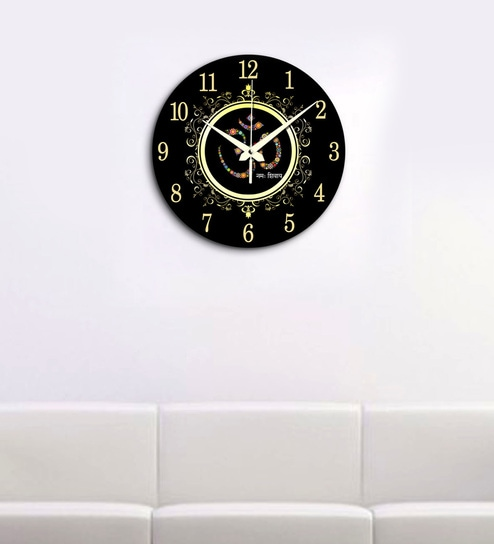 f18e22428a Buy Multicolour MDF Wall Clock by Random Online - Indian Ethnic Wall Clocks  - Wall Clocks - Decor - Pepperfry Product