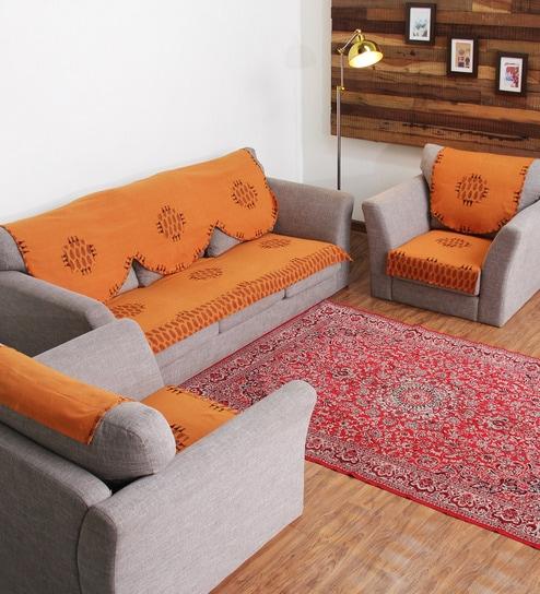 orange sofa cover - Home The Honoroak