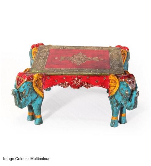 Awesome Rangilo Rajasthan Square Elephant Coffee Table