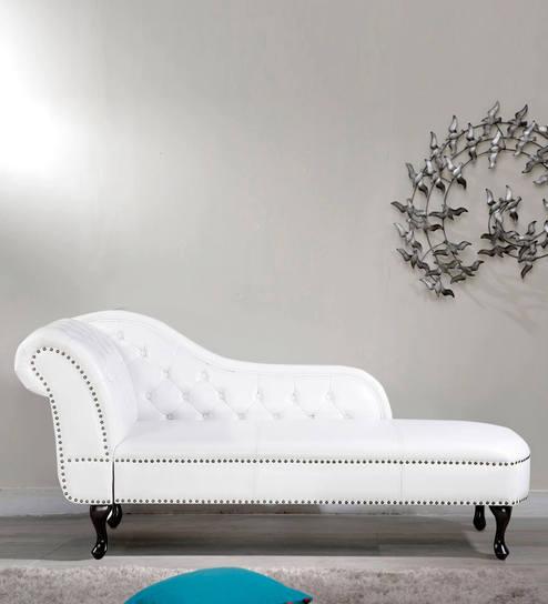 Raubine Chaise In White Colour