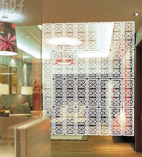 Buy White Acrylic Modern Design Room Divider by Planet Decor Online