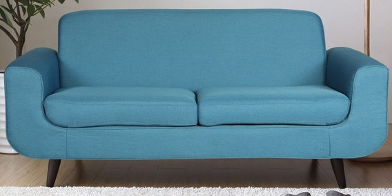 Upto 50% On Sofas By Pepperfry | Rafael Three Seater Sofa in Blue Colour by CasaCraft @ Rs.24,499