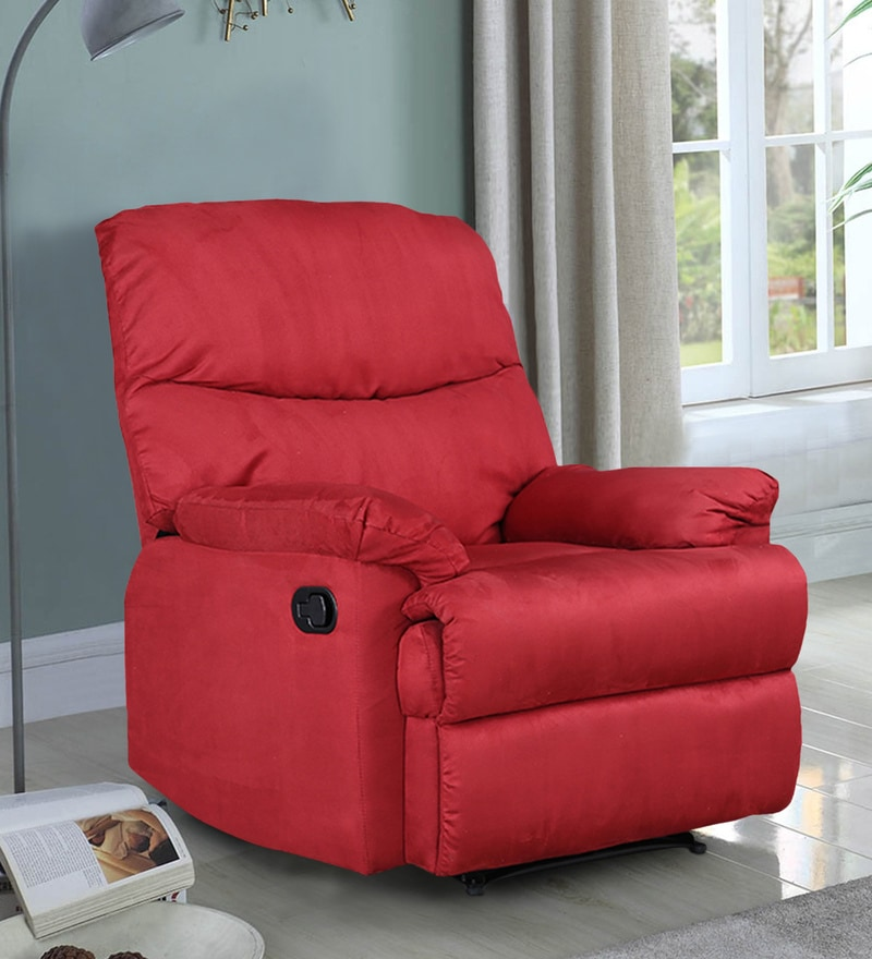 Buy Radcliffe Manual Recliner In Red Colour Hometown Online Manual 1 Seater Recliners Recliners Furniture Pepperfry Product