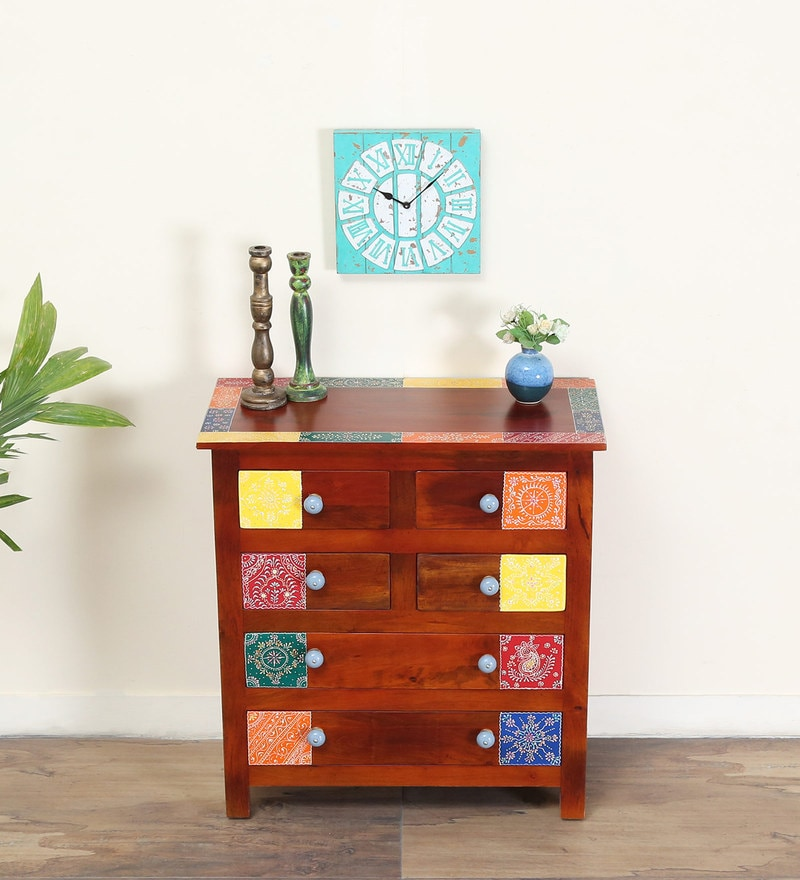 Raga Chest of Six Drawers in Multi-Colour by Mudramark