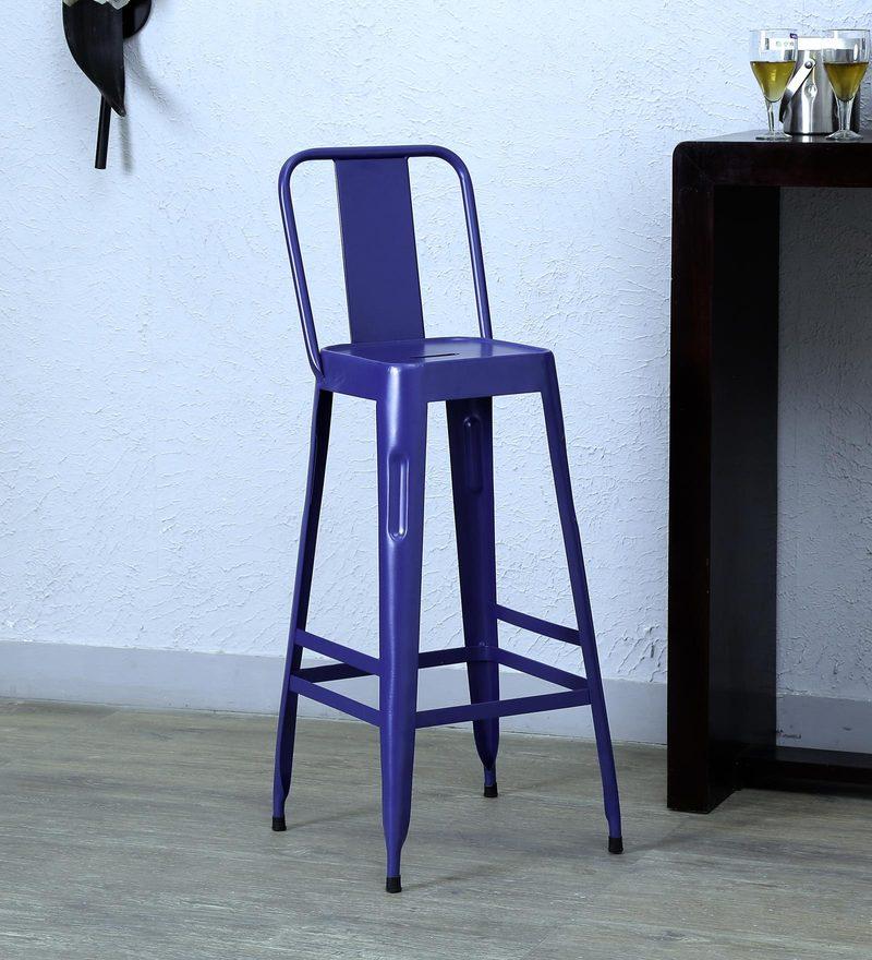 Raglan Bar Chair in Blue Colour by Bohemiana