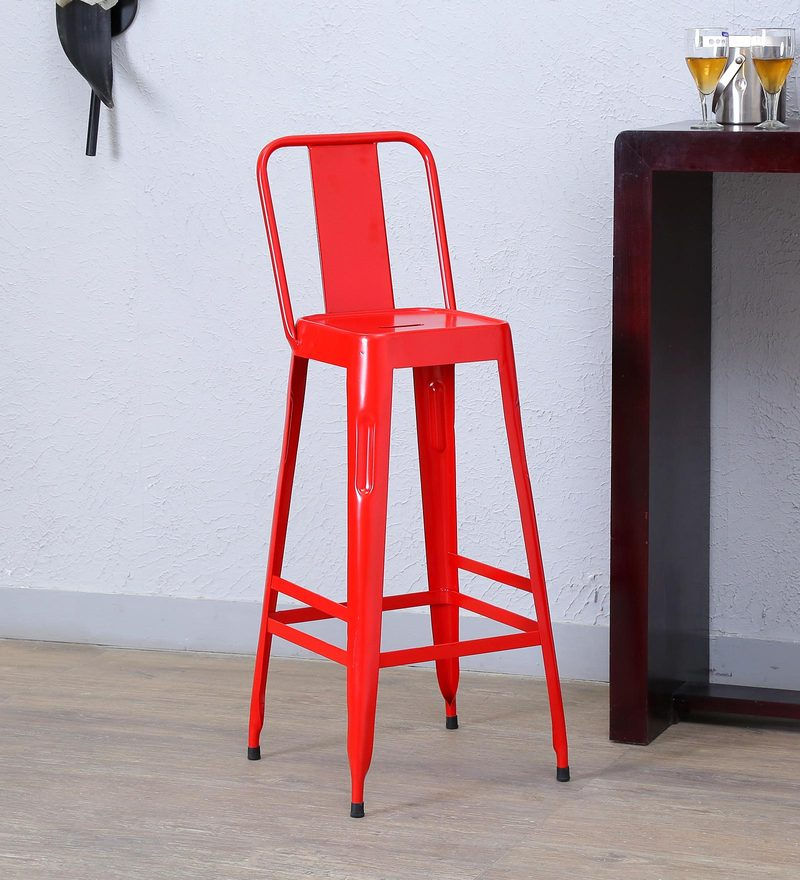 Raglan Bar Chair in Red Colour by Bohemiana