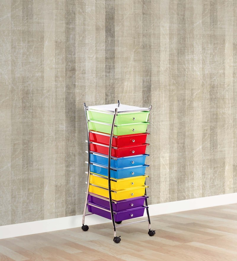 Rainbow Service Trolley with Drawers by Royal Oak