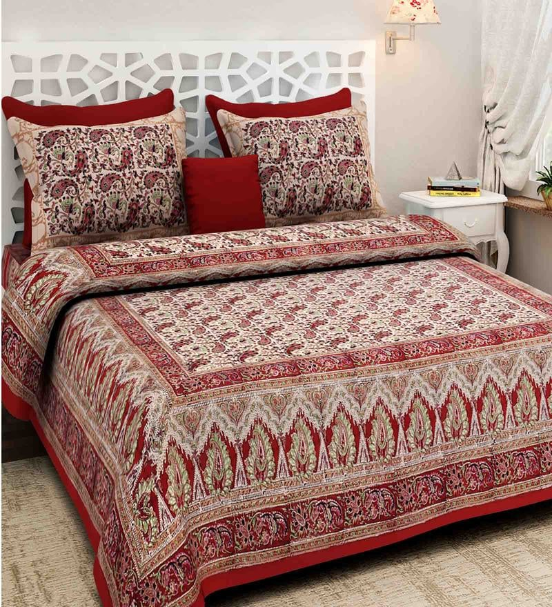 537264fe1f8 Ethnic Motif 160TC Cotton Double Size Bed Sheet with 2 Pillow covers By Rajasthan  Decor. Rs. 1