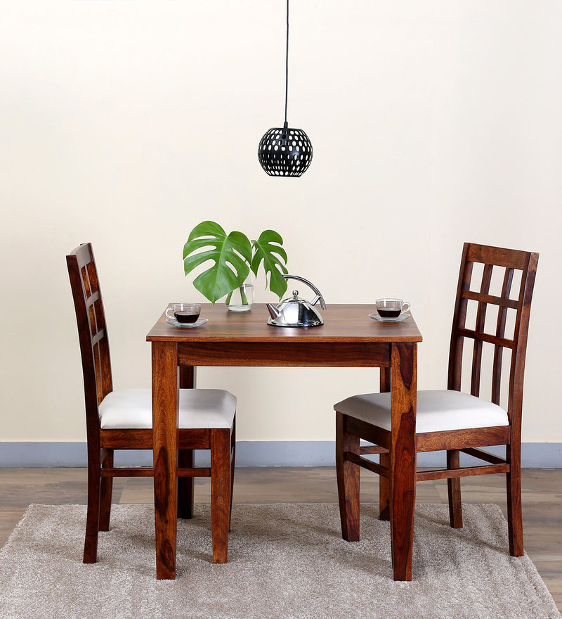 Raliegh Two Seater Dining Set in Honey Oak Finish by Woodsworth