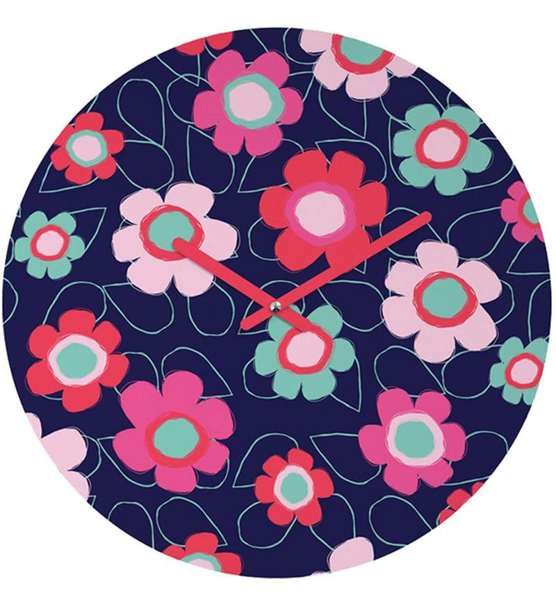 Polka Dreams Handpainted Round Clock by Rang Rage