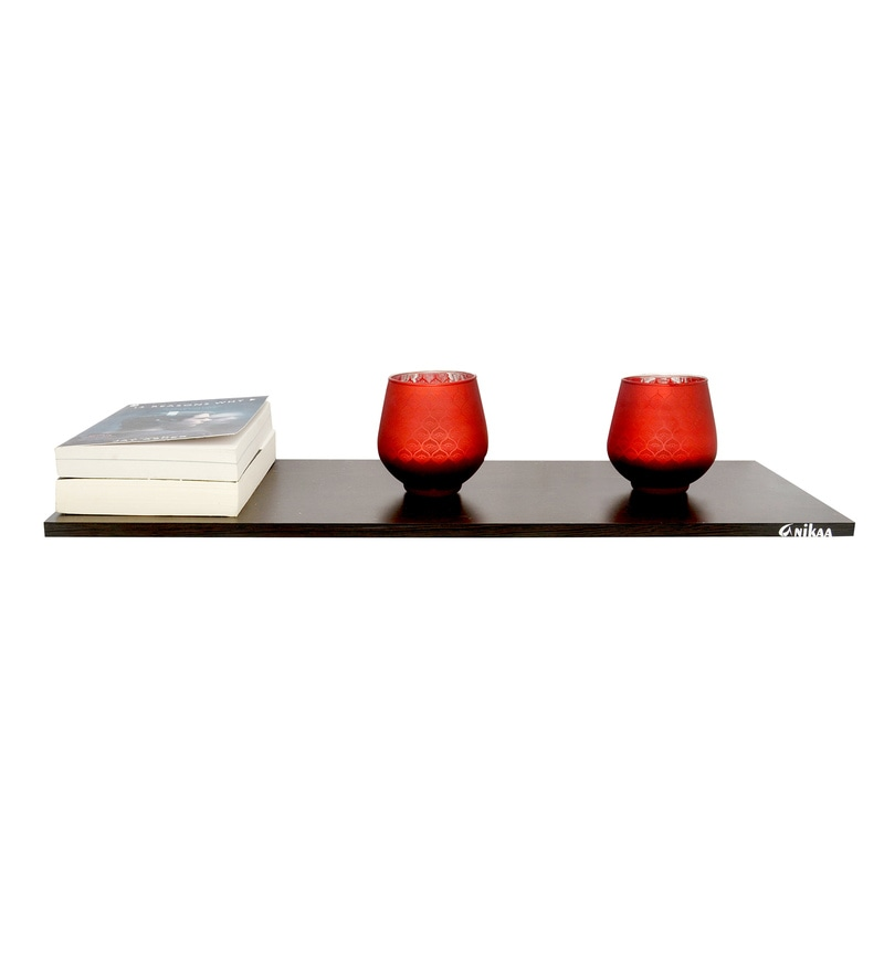 Ray Wooden 24 Inch Wall Shelf by Anikaa