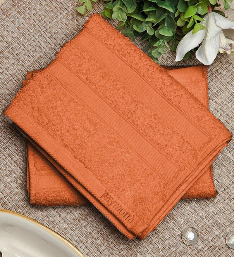 Bluebell Plus Orange Cotton Towel by Raymond Home