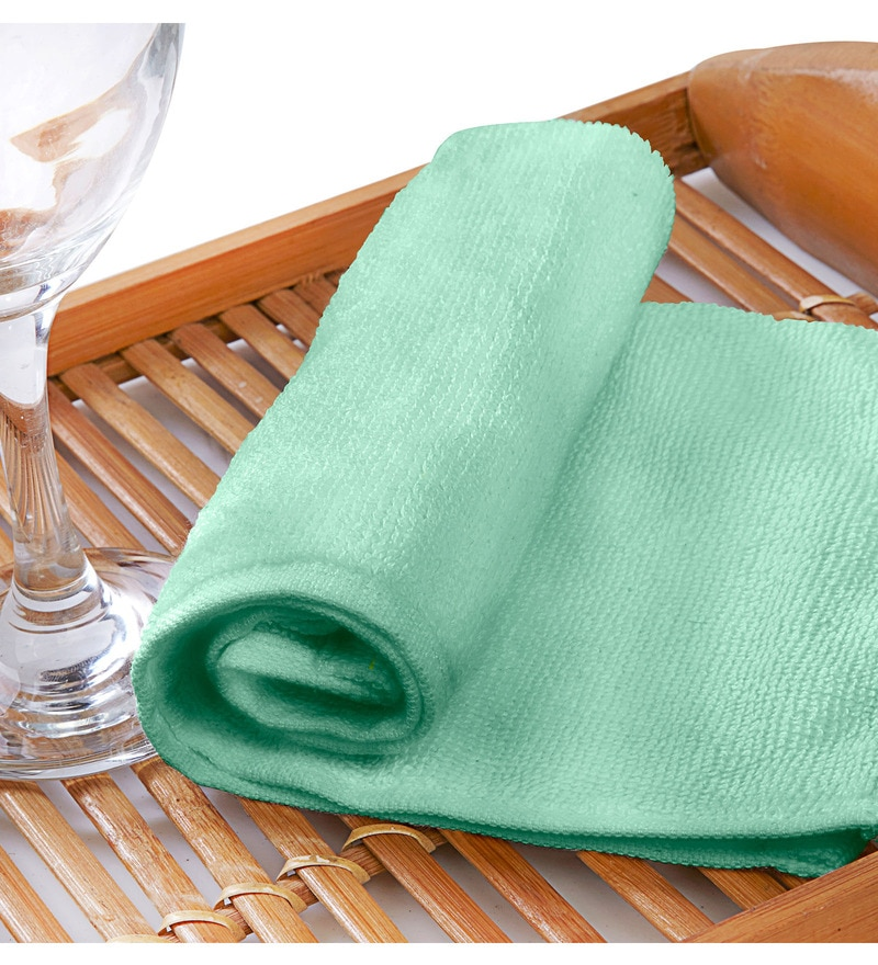 Raymond Home Flyer Sea Green Cotton Hand Towel Set