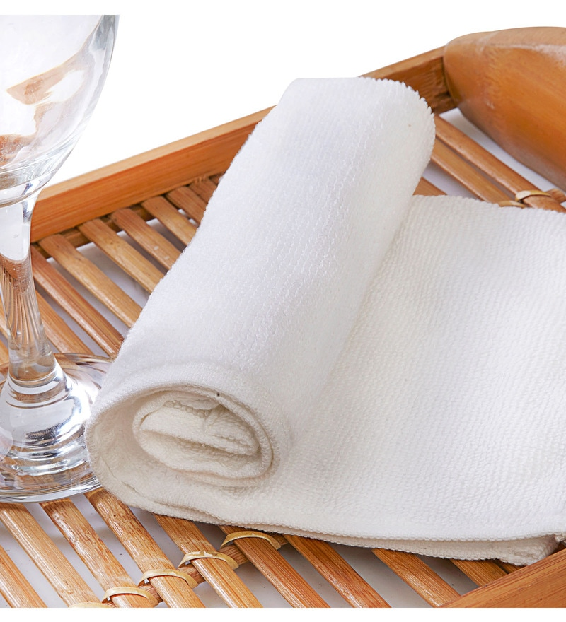 Raymond Home Flyer White Cotton Hand Towel Set