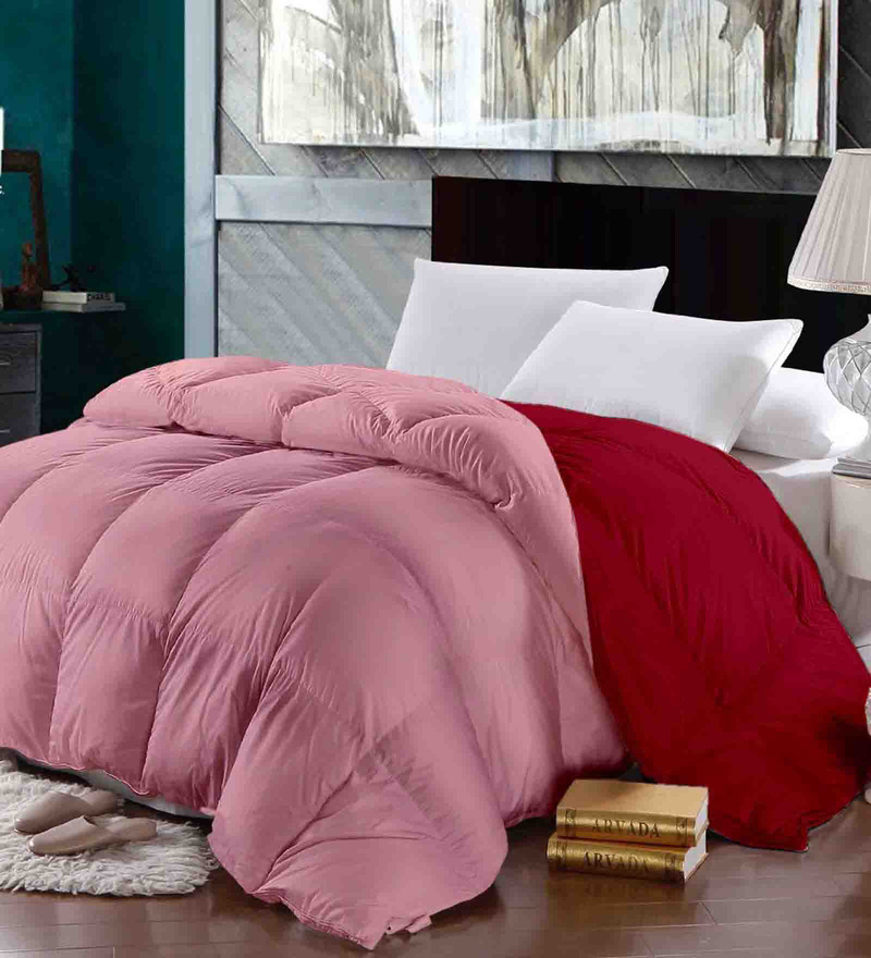 Pinks Micro Fiber 108 x 90 Inch Double Quilt by Raymond Home