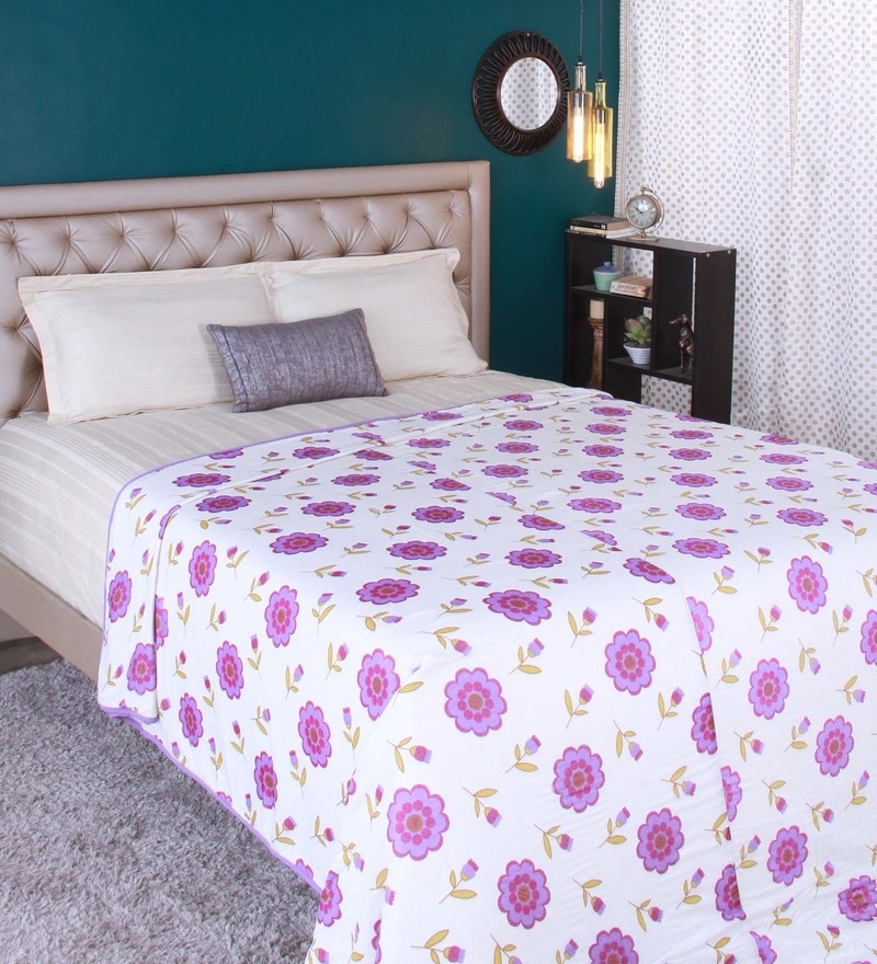 Purple 100% Cotton Double Size Dohar by Raymond Home
