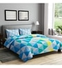 Blue Cotton Queen Size Bedsheet - Set of 3 by Rago