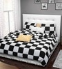 Rago Classic Chess Board Cotton Double Bed Sheet Set