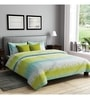 Rago Green Poly Cotton Queen Size Bedsheet - Set of 3