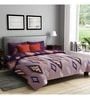 Rago Grey Poly Cotton Queen Size Bedsheet - Set of 3