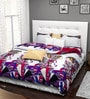 Rago Jazz Pink & Purple Poly Cotton Abstract Bed Sheet Set (with Pillows)