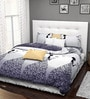 Rago Jazz White & Black Poly Cotton Abstract Lady Bed Sheet Set (with Pillows)