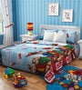 Rago Kids Alvin & The Chipmunks Double Bedsheet in Green & Red with 2 Pillow Covers