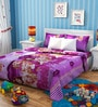 Rago Kids Barbie Poly Cotton Single Bedsheet with 1 Pillow Case
