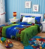 Rago Kids Cars Poly Cotton Double Bedsheet with 2 Pillow Covers