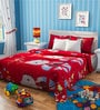 Rago Kids Hello Kitty Double Bedsheet in Red & Blue with 2 Pillow Covers