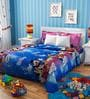 Rago Kids Mickey & Minnie Double Bedsheet with 2 Pillow Covers