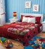 Rago Kids Santa Claus Double Bedsheet with 2 Pillow Covers