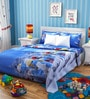 Rago Kids Smurfs Poly Cotton Double Bedsheet with 2 Pillow Covers