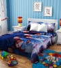 Rago Kids Superman Poly Cotton Single Bedsheet with 1 Pillow Case