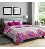 Rago Pink Poly Cotton Queen Size Bedsheet - Set of 3
