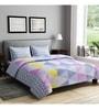 Rago Purple Cotton Queen Size Bedsheet - Set of 3