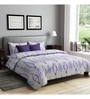 Rago Purple Poly Cotton Queen Size Bedsheet - Set of 3